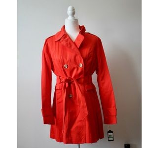 NWT Red Trench Coat